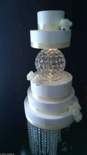 Ebay Chandelier Sphere Crystal Cake Separator For Wedding Cakes - Sphere Wedding Cake