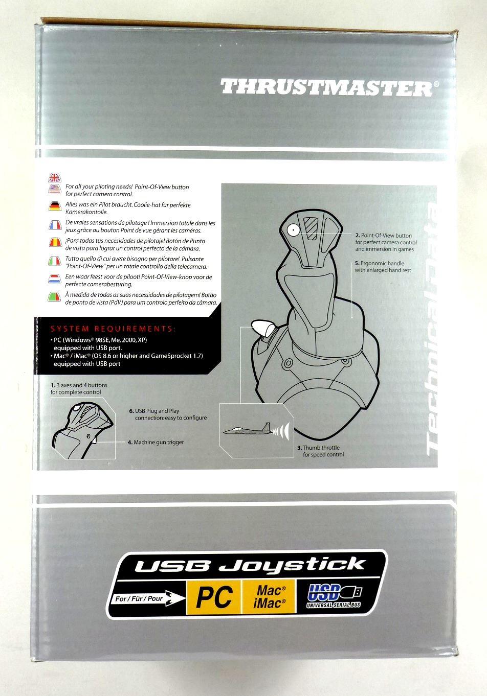 Ebay Thrustmaster USB Joystick For PC Mac Flight Machine Gun Trigger Game  POV Button