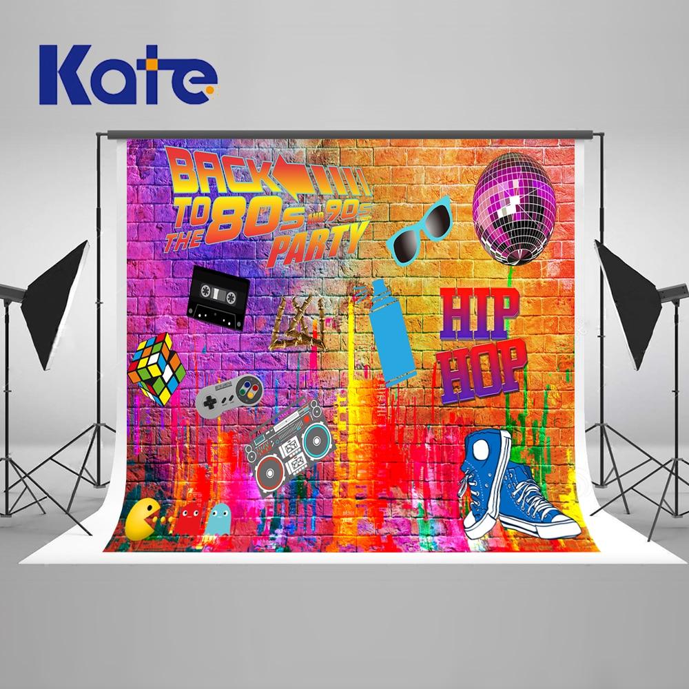 Kate graffiti wall photography backdrops 300cm back to 80s fashion art studio background backdrop radio shoes party backdrop