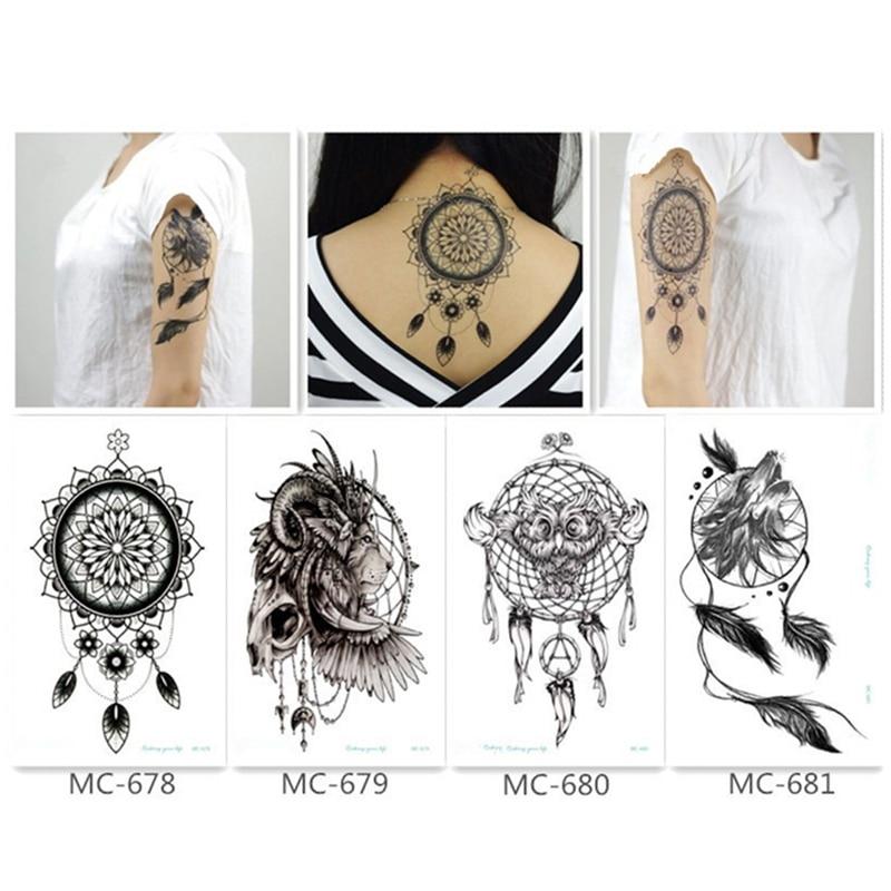 f24ef58f1 AliExpress 1PC Large Temporary Tattoo Punk Women VS Roses VS Dog VS ...