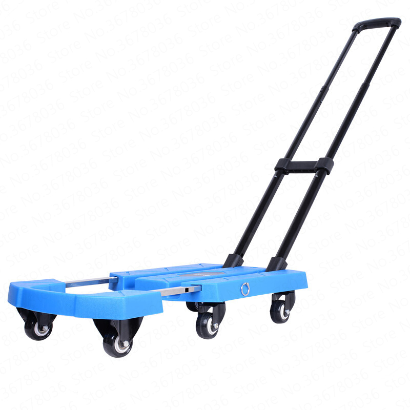 e384e6d556bd AliExpress Trolley Luggage Cart Household Hand Trailer Portable Small  Pulling Truck Climbing Floor Tablet Carretilla Mano Plegable Folding