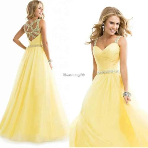 9300c5714f Ebay Mujer Dama Honor Baile Vestido Gala Fiesta Formal De Cóctel Noche Boda  Largo
