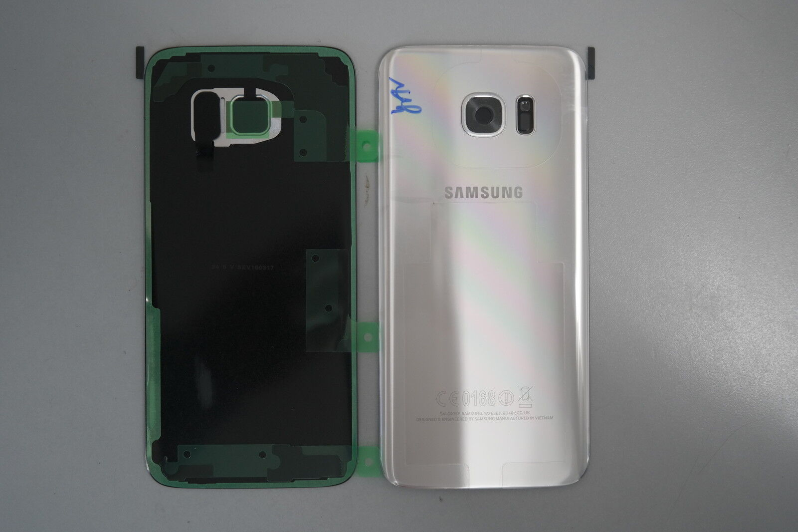 new arrival 8ae6c 6c2d9 Ebay Samsung Galaxy S7 Edge SM-G935F Silver Rear Cover / Glass