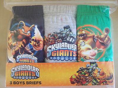 Skylander Giants 3 Pack Boy/'s Briefs Navy//Green//Grey 9-10Yrs