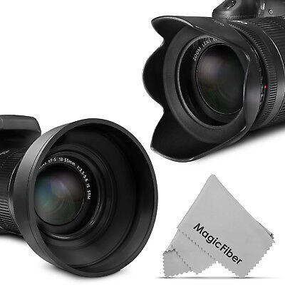 Ebay 58MM Lens Hood for Canon 18-55mm (2 pieces) Petal Flower &