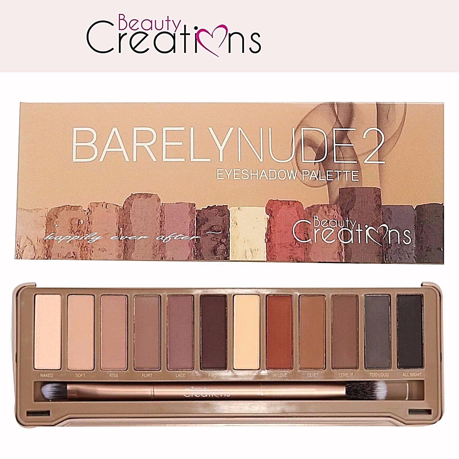 Ebay Neutral Eye Shadow Palette Beauty Creations Barely Nude 2 Tease Me Eyeshadow
