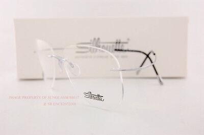 c17aaeb8c674 ... Ebay New Silhouette Eyeglass Frames TMA Must Collection 5515 CM 7010  Silver Titan 55 ...