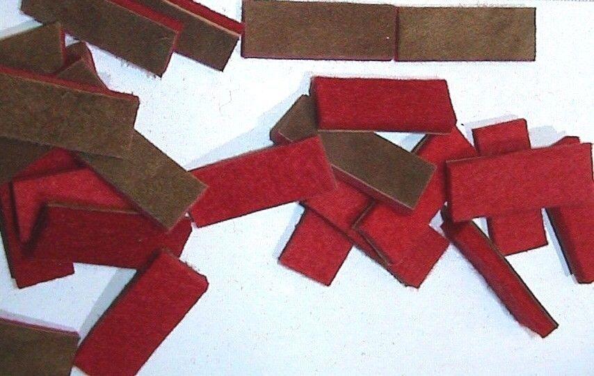 Klappenbeläge fertiggeschnitten für Akkordeon  49 x 13 mm //felts for accordion