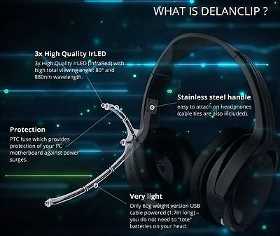 Ebay DelanClip - Head Tracking, FaceTrackNoIR, Freetrack, compatibile with  TrackIR