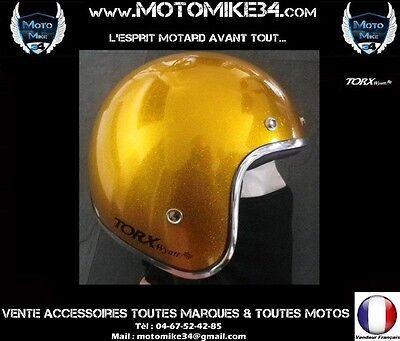 Ebay Casque Wyatt Jet Rétro Vintage Moto Jauneyellow Metal Flake Xs